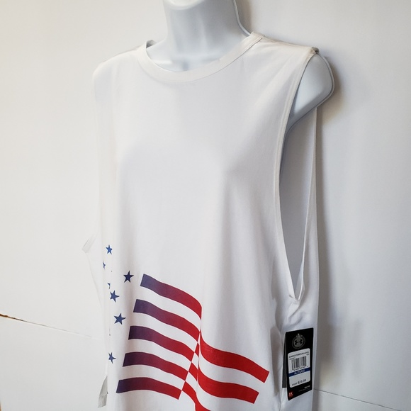 6a5e9d95 Under Armour Tops | Loose Muscle Tee Americana Nwt Pwb16 | Poshmark